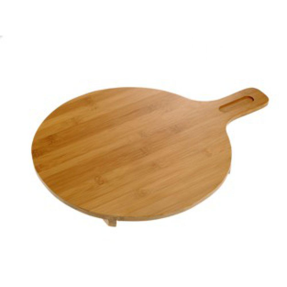 Tagliere tondo bamboo con manico e piedini ipib forniture alberghiere - Piedini cucina 15 cm ...
