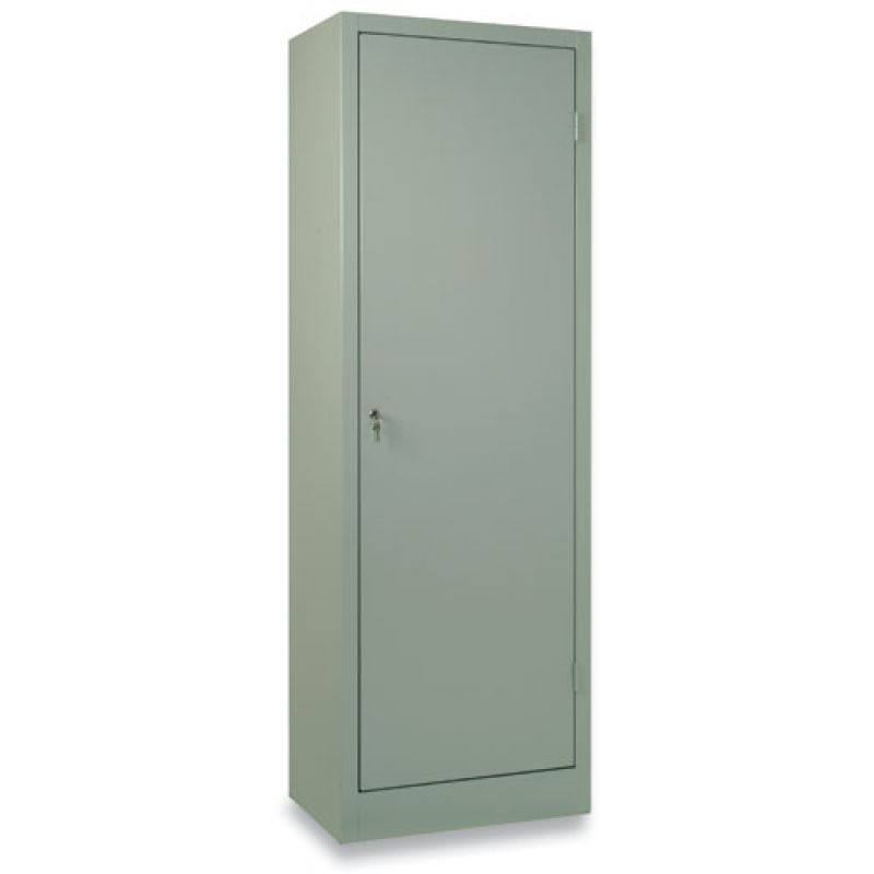 Armadio In Ferro Con Serratura.Armadio Porta Scope Metallo Con Serratura Cm 60x40x176h