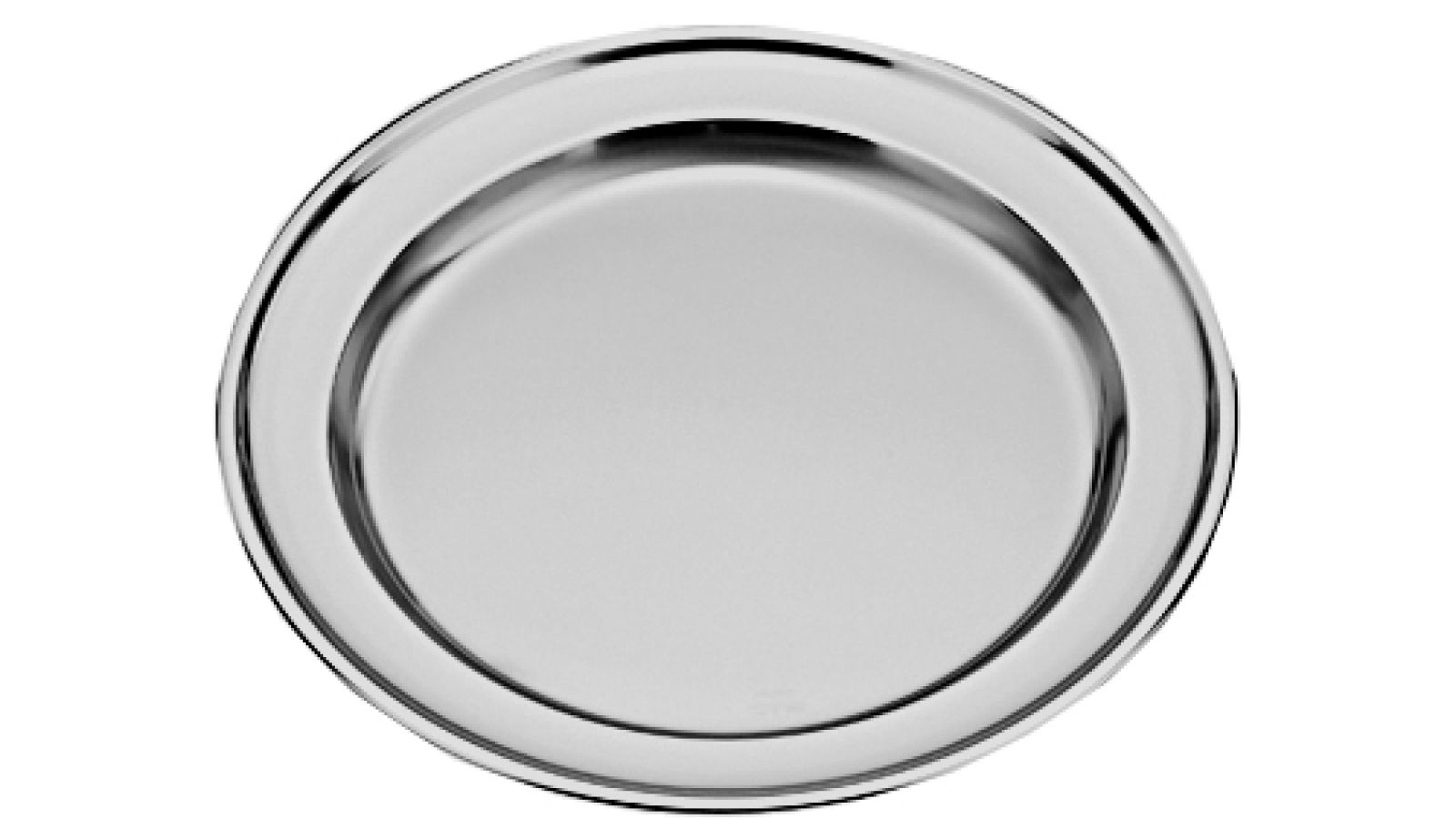 Stainless Steel Round Serving Tray Cm 40 Ipib Forniture Alberghiere